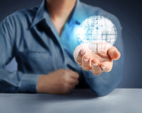 Globe ,earth in  hand Royalty Free Stock Photography
