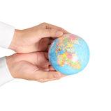 Globe ,earth in hand Stock Photography