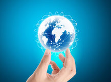 Globe ,earth in hand Royalty Free Stock Photo
