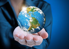 Globe ,earth in  hand Royalty Free Stock Image