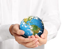 Globe ,earth in  hand Royalty Free Stock Photos