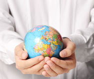 Globe ,earth in  hand Royalty Free Stock Images