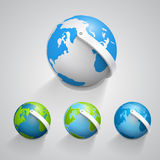 Globe earth icons set. Vector Stock Images