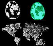 Globe earth  icons themes idea design Royalty Free Stock Photos