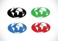 Globe earth  icons themes idea design Stock Images