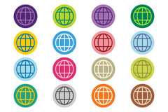 Globe Earth logo vector icon set Royalty Free Stock Image