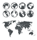 Globe and Earth map Stock Images