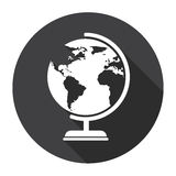 Globe Earth Model Black Web Icon Geography Concept Stock Images