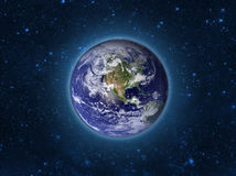 Globe Earth Model by night. Elements of image furnished by NASA. Stock Photos