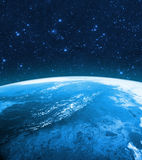 Globe Earth Model by night. Elements of image furnished by NASA. Stock Image