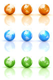 Globe Earth Sets Royalty Free Stock Photo