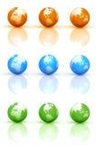 Globe Earth Sets Royalty Free Stock Photo