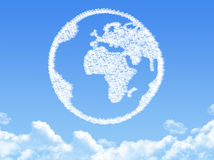 Globe earth shaped cloud Stock Photography