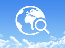 Globe earth shaped cloud Royalty Free Stock Photo