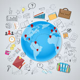 Globe Earth Social Network International Royalty Free Stock Image