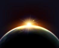 Globe Earth Sunlight Dark Background Poster Royalty Free Stock Photography