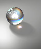 Globe Earth transparent glass planet Stock Photography