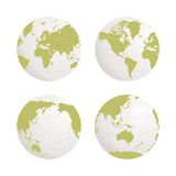 Globe earth vector icon set on white background Stock Photos