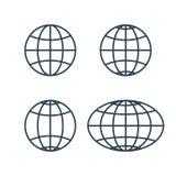Globe earth world icons Stock Image