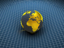 Globe. Earth and world map. 3d Royalty Free Stock Image