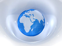 Globe. Earth and world map. 3d Royalty Free Stock Photos