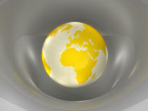 Globe. Earth and world map. 3d Stock Photos
