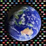 Globe, east Stock Image