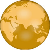 GLOBE_East_Hemi Royalty Free Stock Photography
