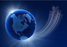 Globe on Eclipse Background Royalty Free Stock Photos