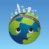 Globe eco concept. royalty free stock photography