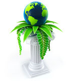 Globe ecology concept Royalty Free Stock Image