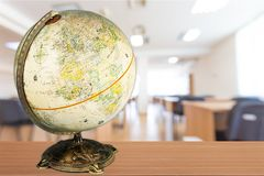 Globe. Education  earth map world map terrestrial Stock Image