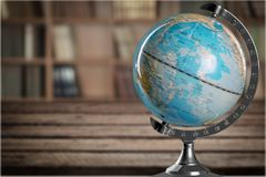 Globe. Education Isolated Earth Map World Map terrestrial Royalty Free Stock Photography