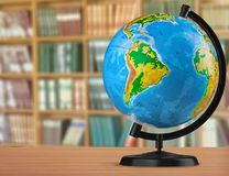 Globe. Education isolated earth map world map terrestrial Royalty Free Stock Image
