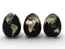 Globe Eggs Royalty Free Stock Images