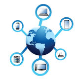 Globe electronic network Concept Stock Photo