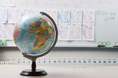 Globe In Elementary Classroom Royalty Free Stock Photo