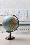Globe In Elementary Classroom Stock Photos
