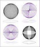 globe elements-spheres Royalty Free Stock Photos
