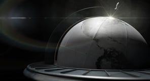 Globe en bois du monde de vintage image libre de droits