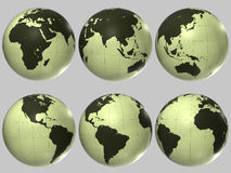 Globe en plastique du monde Photographie stock libre de droits