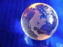 Globe en verre bleu Photos libres de droits