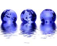 Globe en verre bleu Image libre de droits