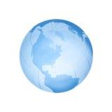 Globe en verre d'isolement Photos stock