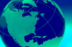 Globe en verre de la terre Images libres de droits
