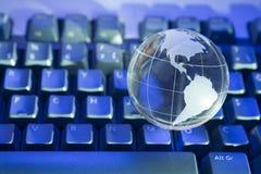 Globe en verre du monde Images stock