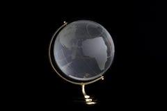 globe en verre noir de fond Photo libre de droits