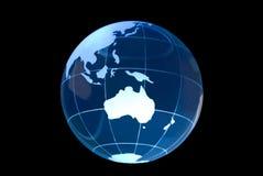 globe en verre noir de l'australie Images libres de droits