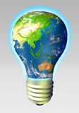Globe energy - Asia and Australia Stock Photography