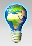 Globe energy - Europe and Africa Stock Photography